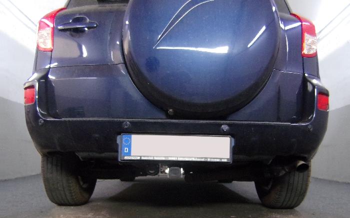 Anhängerkupplung für Toyota-RAV 4 - 2006-2008 III (XA3) Fzg. m. Nummernschild im Stossfänger Ausf.:  horizontal