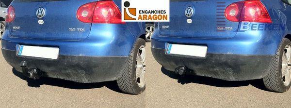Anhängerkupplung VW-Golf V, Limousine, nicht 4x4, Baujahr 2003- Ausf.:  horizontal