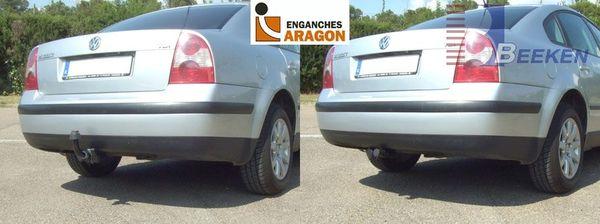 Anhängerkupplung VW-Passat 3b, nicht 4-Motion, Limousine, Baujahr 2000-