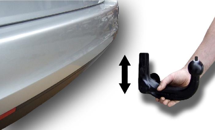 Anhängerkupplung Mazda MX 2 Heckträgeraufnahme, nur für Heckträgerbetrieb, Montage nur bei uns im Haus, Baureihe 2012-  vertikal
