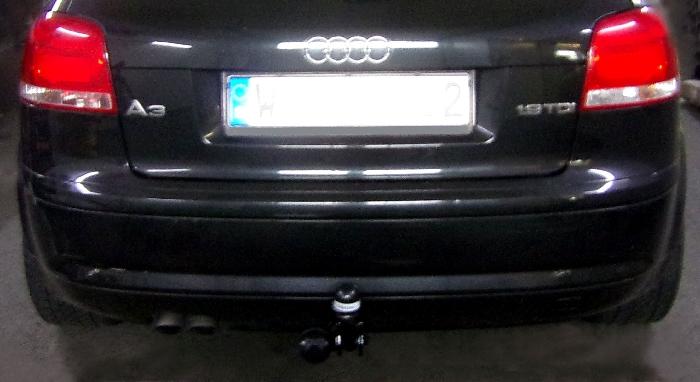 Anhängerkupplung Audi A3 3-Türer, nicht Quattro + S3, Baureihe 2005-2008  feststehend
