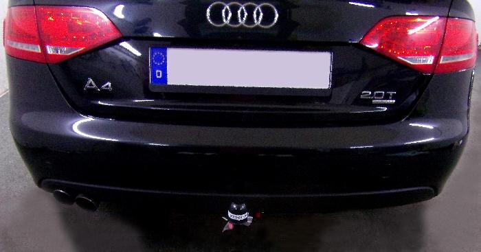 Anhängerkupplung für Audi-A4 Limousine - 2012-2015 Quattro Ausf.:  vertikal
