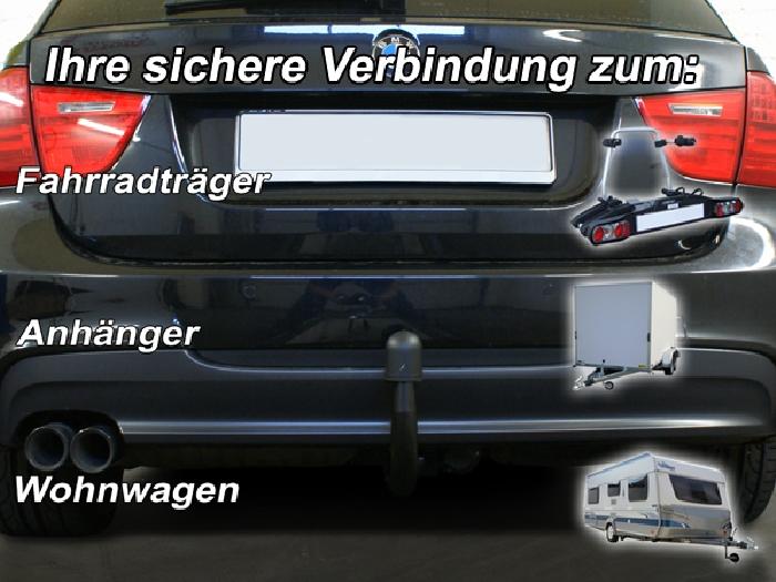 Anhängerkupplung BMW 3er Touring E91, spez. M- Paket, Baureihe 2010-  vertikal