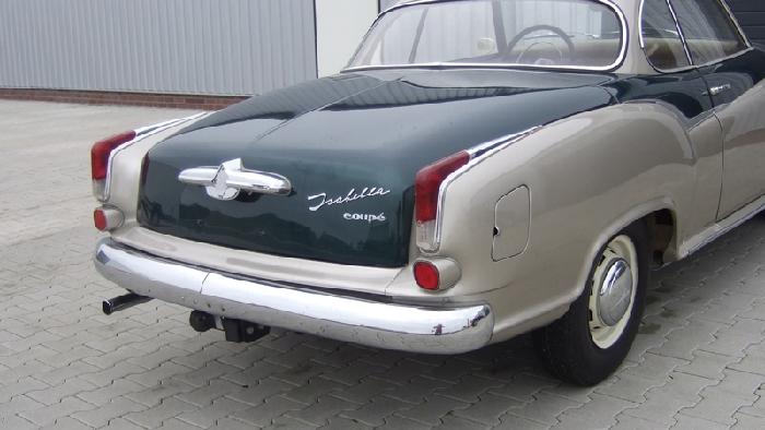 Anhängerkupplung Borgward-Isabella Kombi, Montage nur bei uns im Haus, Baureihe 1955-1962 Ausf.:  horizontal