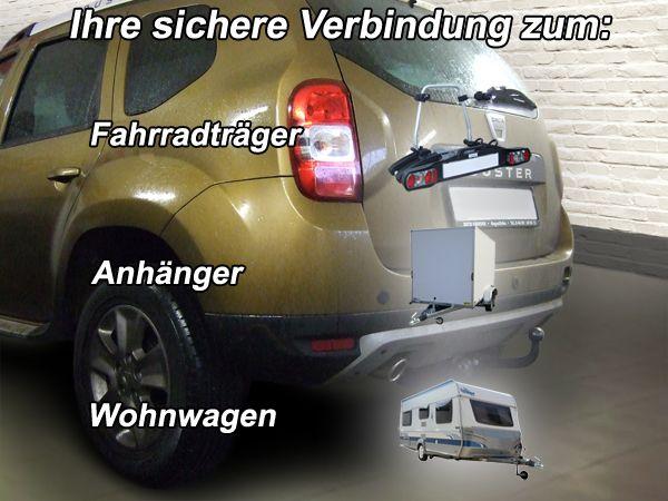 Anhängerkupplung Dacia-Duster SUV 2WD und 4WD, Baujahr 2013-2017