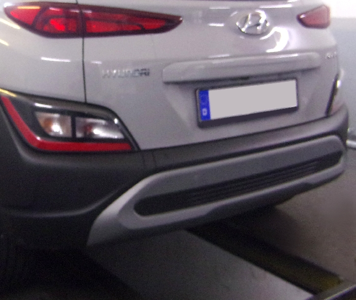 Anhängerkupplung für Hyundai-Kona Fzg. mit E-satz Vorbereitung, nicht AdBlue, nicht Hybrid - 2017-