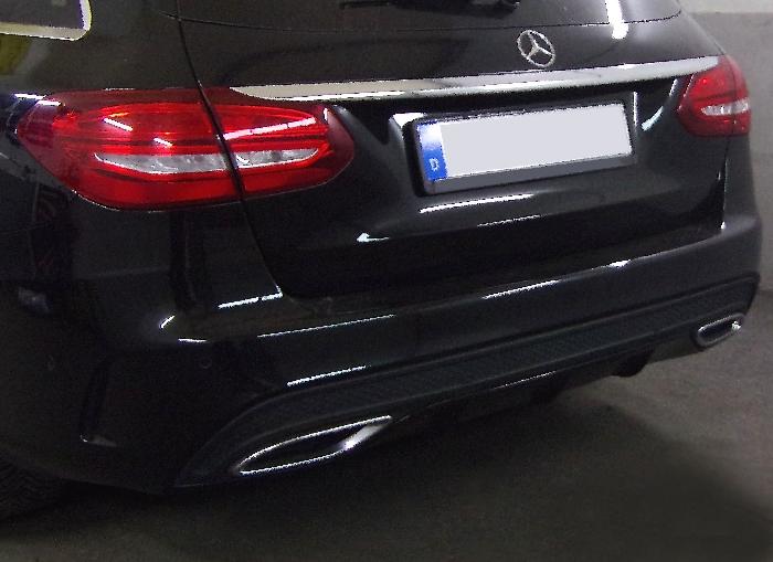 Anhängerkupplung Mercedes-C-Klasse Kombi W205, spez. m. AMG Sport o. Styling Paket, Baujahr 2014-2018 Ausf.:  vertikal