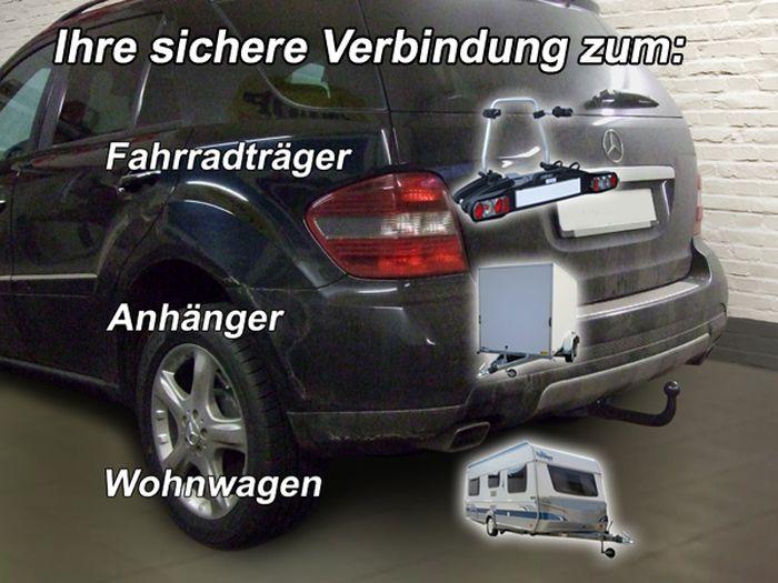 Anhängerkupplung Mercedes-M-Klasse W164, Baujahr 2010- Ausf.:  vertikal