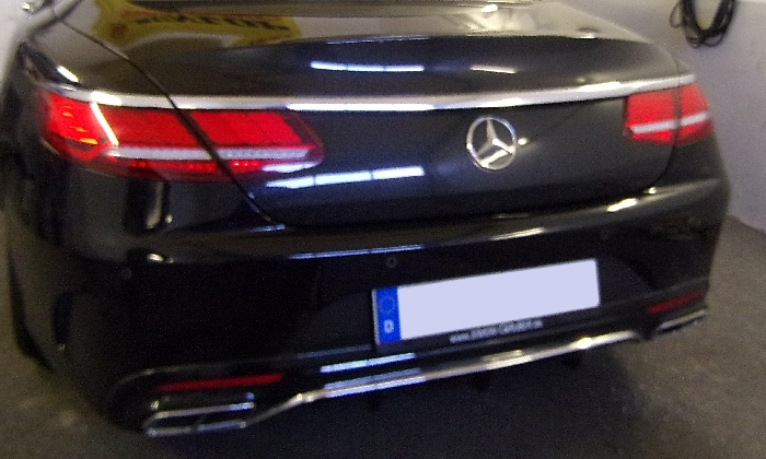Anhängerkupplung Mercedes-S- Klasse C217 Coupe, nur für Heckträgerbetrieb, Baujahr 2014- Ausf.:  vertikal