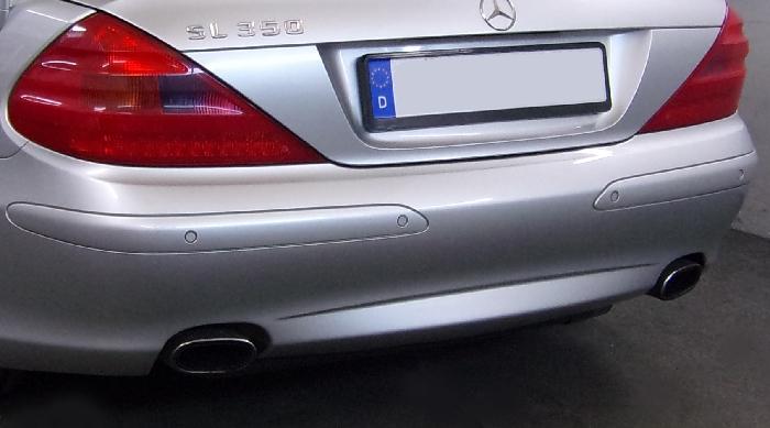 Anhängerkupplung Mercedes-SL R 230 I, nur für Heckträgerbetrieb, Montage nur bei uns im Haus, Baujahr 2001-2006 Ausf.:  vertikal