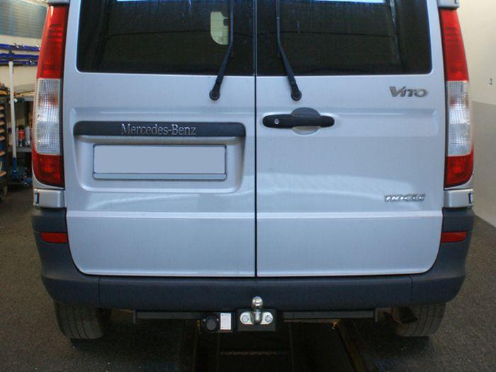 Anhängerkupplung für Mercedes-Vito - 2005-2010 W639, Fzg. o. Elektrosatz-Vorbereitung Ausf.:  feststehend