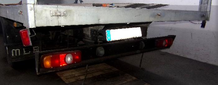 Anhängerkupplung für Mitsubishi-Canter auch Fuso Canter, Typ 3C13, Pritsche, Koffer - 2005-2012