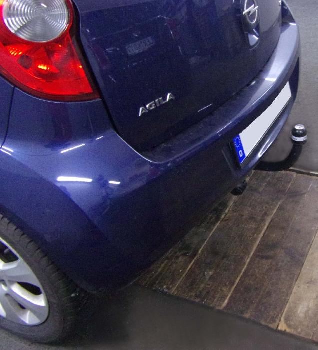 Anhängerkupplung für Opel-Agila - 2008- Minivan Ausf.:  feststehend