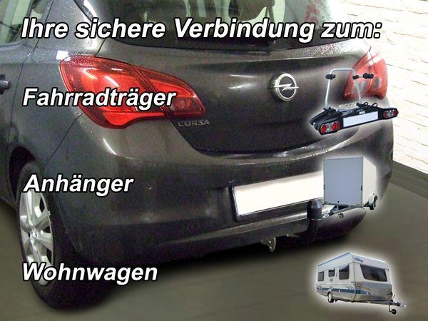 Anhängerkupplung Opel-Corsa E, Fließheck, Baujahr 2014-