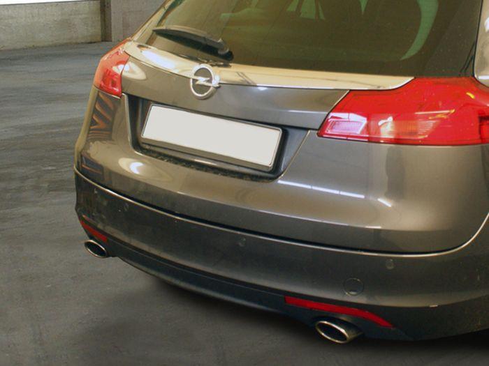 Anhängerkupplung für Opel-Insignia A - 2008- Sports Tourer, speziell OPC, Fzg. mit Elektrosatz-Vorbereitung Ausf.:  vertikal