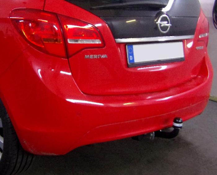 Anhängerkupplung für Opel-Meriva - 2010-2014 B, Minivan, nicht für Kfz. mit Fahrradträgersystem Flex-Fix Ausf.:  feststehend