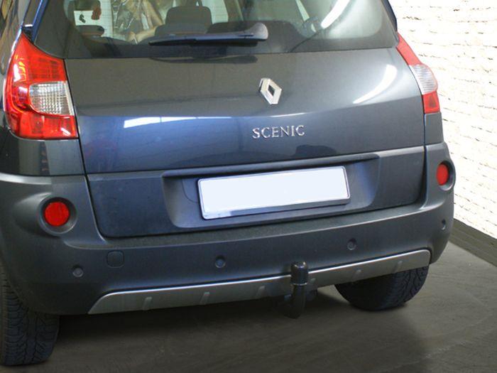 Anhängerkupplung Renault Scenic Scenic II, speziell Conquest, Montage nur bei uns im Haus, nur für Heckträgerbetrieb, Baureihe 2003-2008  vertikal