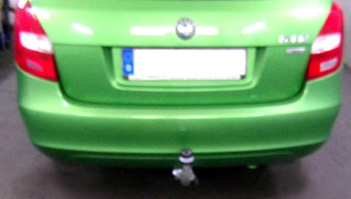 Anhängerkupplung für Skoda-Fabia - 2010-2014 Kombi, nicht RS Ausf.:  horizontal