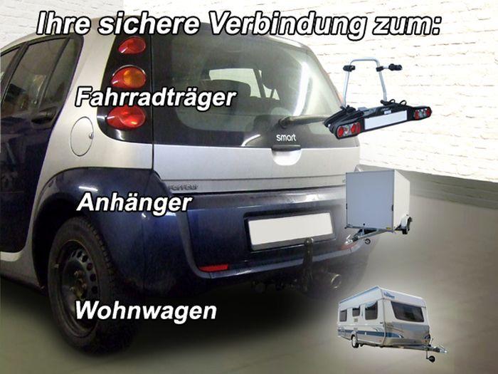 Anhängerkupplung Smart-Forfour W454, Baujahr 2004-2006