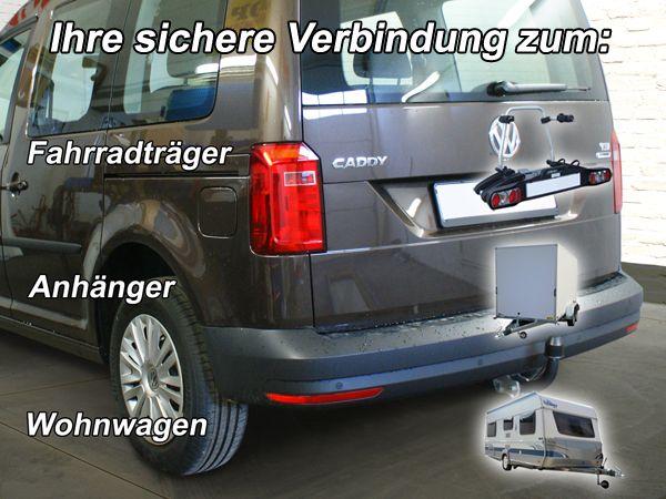 Anhängerkupplung VW-Caddy V, Maxi mit Benzin- o. Dieselmotor, Baujahr 2015-