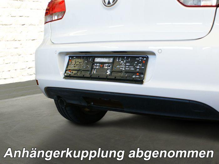 Anhängerkupplung VW-Golf VI Limousine, nicht 4x4, Baujahr 2008-