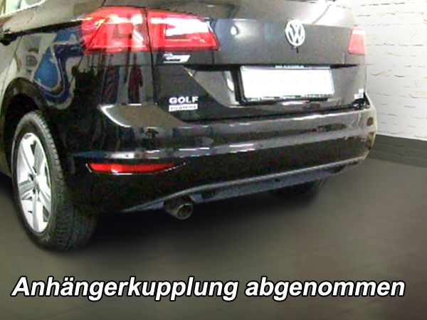 Anhängerkupplung für VW-Golf VII Sportsvan, speziell für R-Line, Baujahr 2014-2018