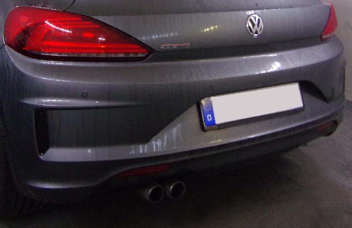 Anhängerkupplung VW-Scirocco Heckträgeraufnahme, nur für Heckträgerbetrieb, Montage nur bei uns im Haus, Baujahr 2014-2017 Ausf.:  vertikal