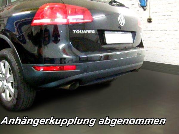 Anhängerkupplung VW-Touareg f. Fzg. m. Reserverad am Boden, Baujahr 2010-