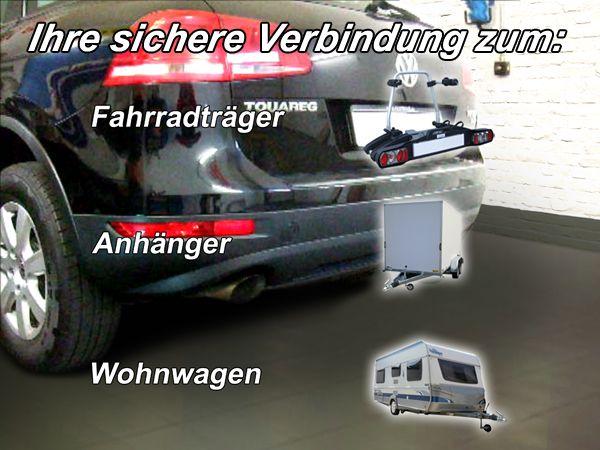 Anhängerkupplung für VW-Touareg - 2002-2005 f. Fzg. m. Reserverad am Boden Ausf.:  vertikal