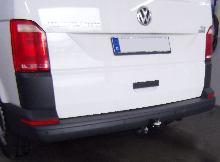 Anhängerkupplung für VW-Transporter - 2015-2019 T6, Kasten Bus Kombi, inkl. 4x4 Ausf.:  feststehend