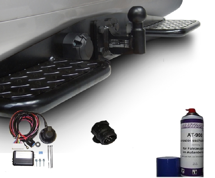 Anhängerkupplung Mercedes-Sprinter Kastenwagen Heckantrieb 209-324, Radstd. 3665mm, Fzg. ohne Trittbrettst., Baujahr 2006-2018