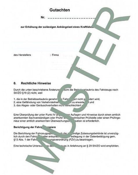 Anhängelast erhöhen Seat Alhambra, 1996-2010 (Gutachten)