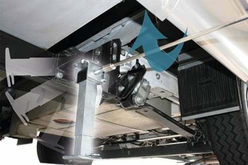 MOCA Stütze universal für die Hinterachse 290- 490mm
