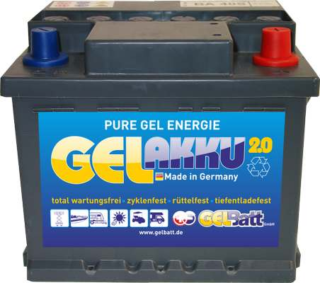 GEL Akku 12 V 40Ah DIN Pole