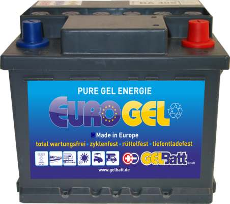 GEL Akku 12 V 40Ah DIN Pole, EuroGel