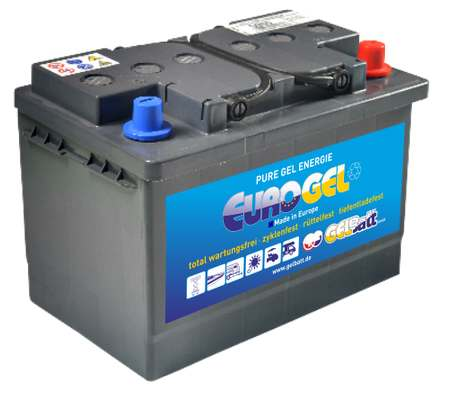 GEL Akku 12 V 60Ah DIN Pole ohne Bodenleiste, EuroGel