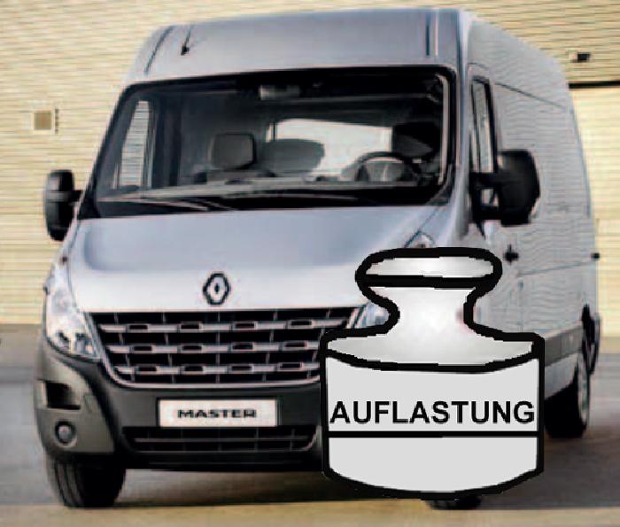 Auflastung Wohnmobil Renault Master III (X62) Frontantrieb (Typ VA/VB/MA/MB), Bj. 2010-2014, 8 Zoll Semi Air Komfortset-LCV, syst. LF1