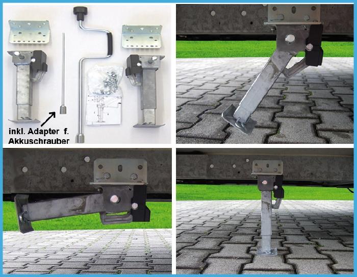 AKTION - MOCA Hubmatic Hubstütze universal Heck inkl. Kurbel u. Adapter f. Akkuschrauber