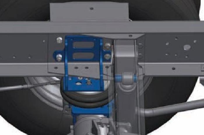 Iveco 60-65C Bj. 2006-2014, Zusatz-Luftfederung 8 Zoll Zweikreis Doppelfaltenbalg- Anlage, Semi Air Komfortset-LCV, syst. LF1